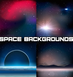 4 space backgrounds vector