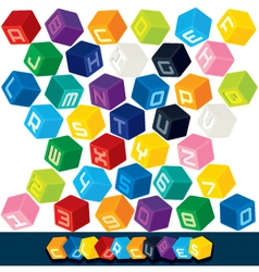 3D Cubics Font vector image vector image