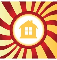 House abstract icon vector