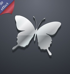 Butterfly icon symbol 3d style trendy modern vector