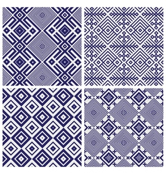 Blue geometric patterns vector
