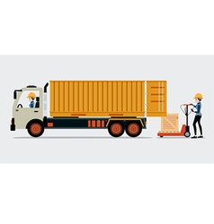 Container truck vector