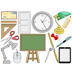 Object related with office and education vector