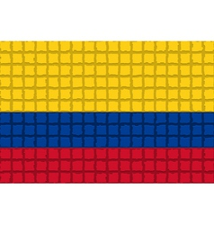 The mosaic flag of Colombia vector image