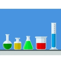 Test tube flat icon vector