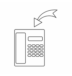 Incoming call icon thin line style vector