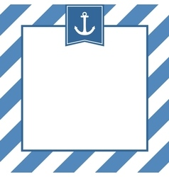 Nautical card or invitation with anchor vector