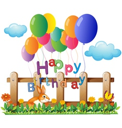 A happy birthday greeting with balloons vector image vector image