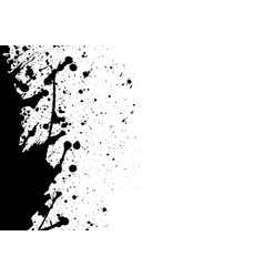 Abstract black ink splatter background isolated vector