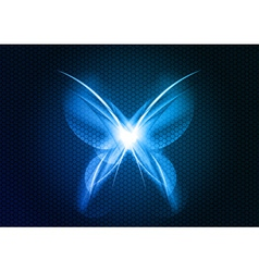 abstract blue butterfly vector image vector image
