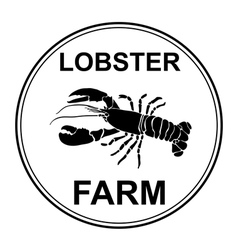 Black lobster vector