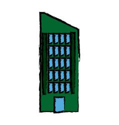 Business building skyscrapers exterior vector