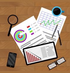 Business planning and accounting vector