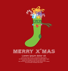 Christmas sock new year concept vector