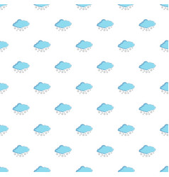 Cloud with snowflakes pattern vector