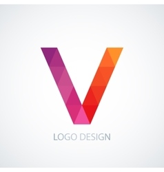 colorful logo letter v vector image