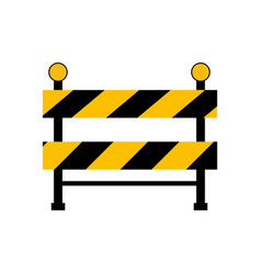 construction barrier icon vector image vector image