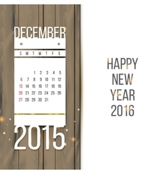 December 2015 vector image vector image