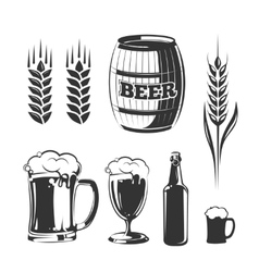 elements for vintage beer festival labels vector image vector image
