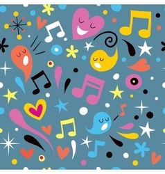Fun music seamless pattern vector