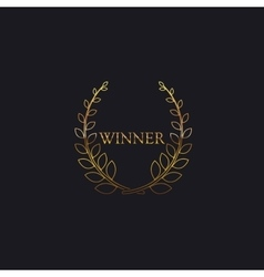 Golden Winner Award Sign vector image vector image