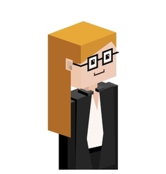 Lego half body female judge with glasses vector