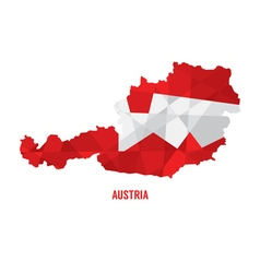 Map Of Austria vector image vector image