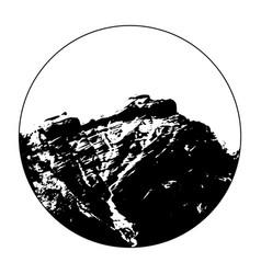Miss cascade mountain in a circle vector