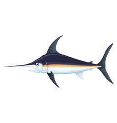ocean large swordfish vector image