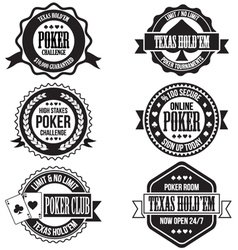 poker and casino badges vector image vector image