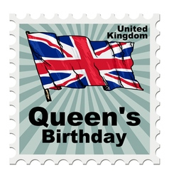 Post stamp of national day of uk vector