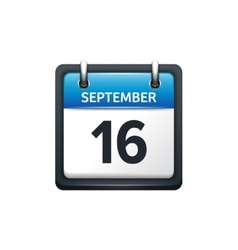 September 16 calendar icon vector