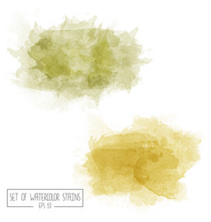 set of color watercolor stains vector image vector image
