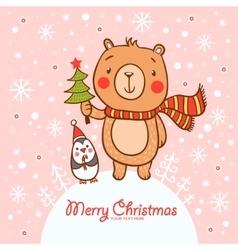 Stylish christmas card in vector