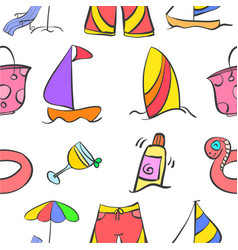summer holiday style pattern vector image vector image