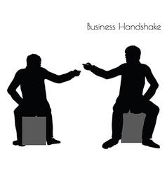 Man in business handshake pose vector