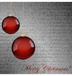 Red and gray Christmas background vector image