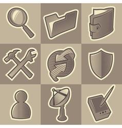 Monochrome internet icons vector image