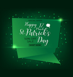 a st patricks day green sale vector image