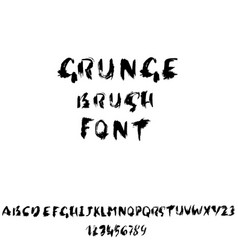 hand drawn dry brush font modern brush lettering vector image