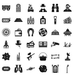 Interest games icons set simple style vector