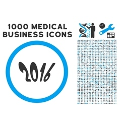 2016 Year Icon with 1000 Medical Business vector image vector image