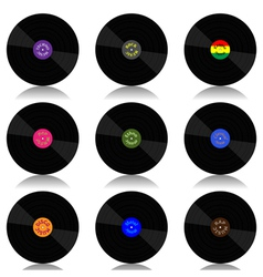 Vinyl record-lp set vector