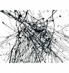 paint splatters vector image
