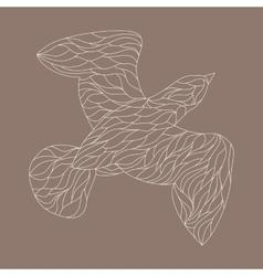 Line drawings of bird vector
