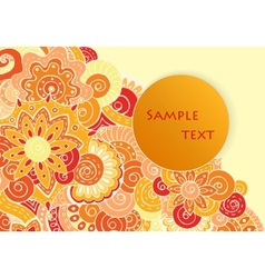 Abstract asian ethnic floral retro doodle pattern vector