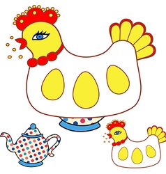 Magic chicken 09 vector