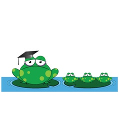frog teacher vector image