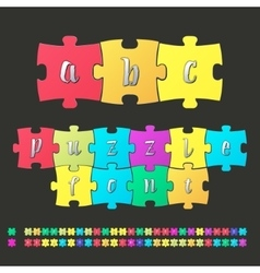 Colored alphabet puzzle vector