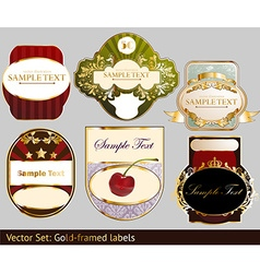 Luxury label set vector